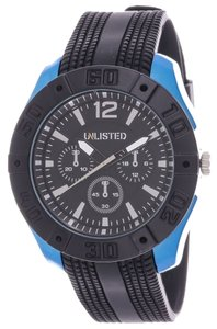 Unlisted UL1320 Men's Blue Tone Analog Watch With Black Dial