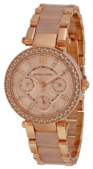 Preload https://item4.tradesy.com/images/michael-kors-michael-kors-rose-gold-with-blush-acetate-and-crystal-pave-bezel-ladies-designer-watch-4870018-0-0.jpg?width=440&height=440