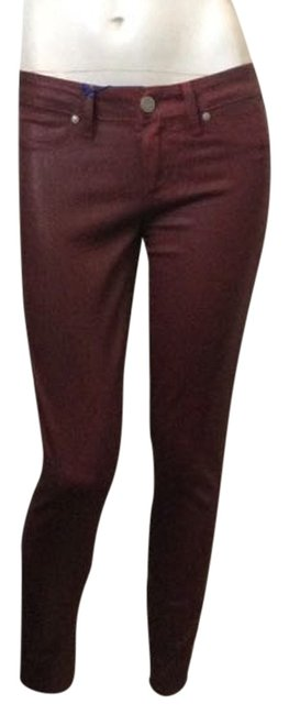 Item - Burgundy Coated Straight Leg Jeans Size 24 (0, XS)