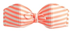 J.Crew Striped Bandeau Bow Bikini Top