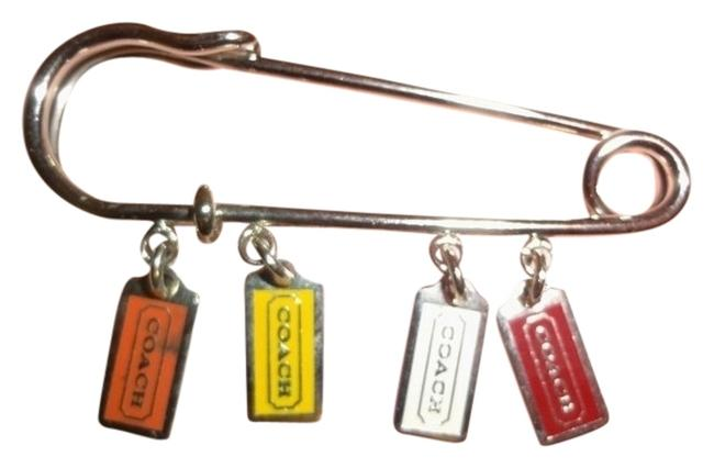 """Item - Multi-color Kilt Pin """"Safety"""" Pin Style with Dangling Mini Lozenge Hang Tags"""