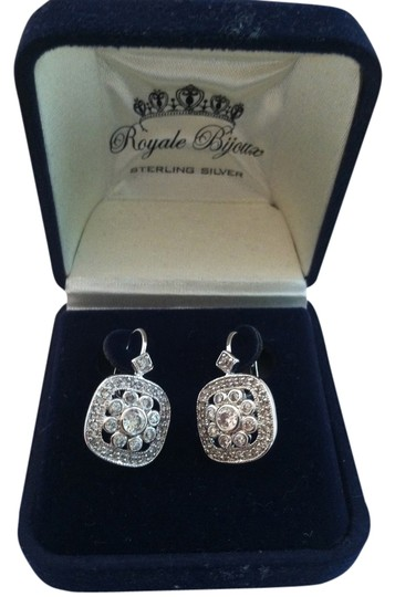 Royale Bijoux Sterling silver and crystal earrings