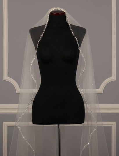 Homa Bridal Diamond White Long 456 Bridal Veil
