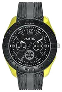 Unlisted UL1322 Men's Yellow Tone Analog Watch With Black Dial
