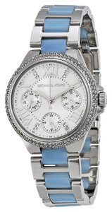 Michael Kors Michael Kors Crystal Pave Bezel Blue and Silver Ladies Designer Watch