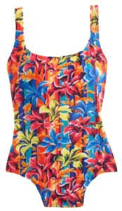 J.Crew Sunset Floral Scoopback One-piece