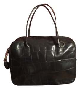 Paola del Lungo Satchel in Jet Black