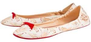 Christian Louboutin White, Red Flats