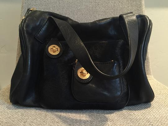 Marc by Marc Jacobs Leather Haircalf Purse Satchel in Black