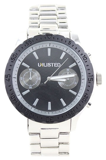 Preload https://item2.tradesy.com/images/other-unlisted-10024684-men-s-silver-tone-analog-watch-with-black-dial-4871056-0-0.jpg?width=440&height=440