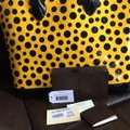 Louis Vuitton Limited Edition Lv Yayoi Kunama Collection Lock It Mm Vernis Infinity Leather Tote in yellow polka Dots Image 2