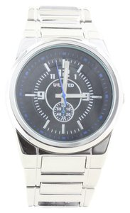 Other Unlisted 10024652 Men's Silver Tone Analog Watch With Black Dial