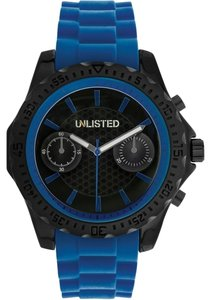 Other Unlisted 10024677 Men's Black Tone Analog Watch With Blue Accented Dial