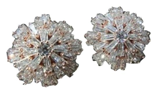 Other Icicle Snowflower Gold-Plated Earrings