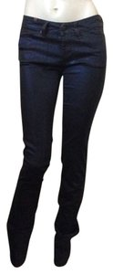 Other Skinny Pants Coated Metallic Blue