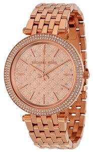 Michael Kors Michael Kors Rose Gold Crystal Bezel Dial Ladies Designer Watch