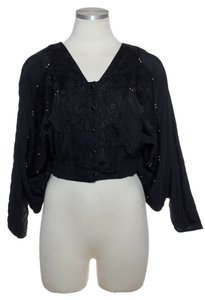 Millau Dolman Lace Crop Black Jacket