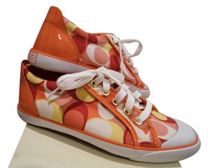Coach Canvas Patent Leather Coral Athletic