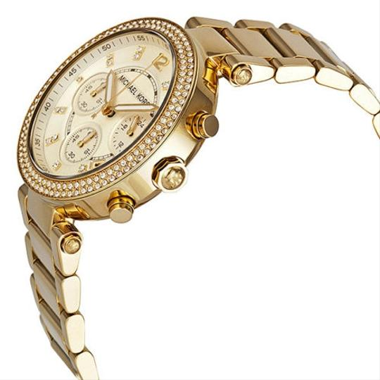 Michael Kors Michael Kors Gold Champagne Dial Crystal Pave Ladies Designer Watch