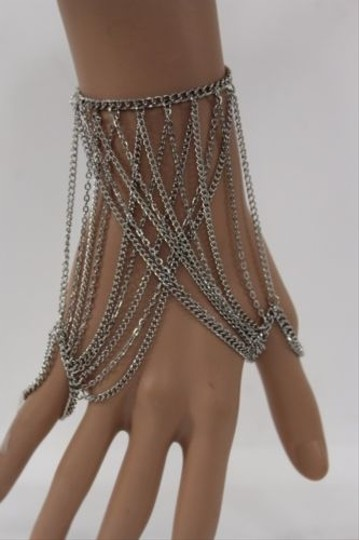 Preload https://item1.tradesy.com/images/other-women-silver-metal-thin-hand-multi-chain-bracelet-fashion-double-slave-ring-4871800-0-0.jpg?width=440&height=440