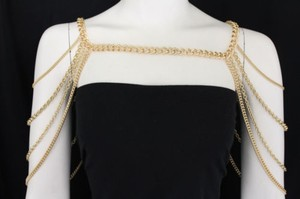 Other Women Gold Double Sided Shoulder Chunky Metal Thick Chain Fashion Jewelry