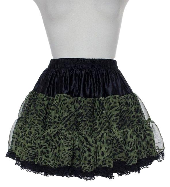 Item - Green Layered Lace Skirt Size 4 (S, 27)