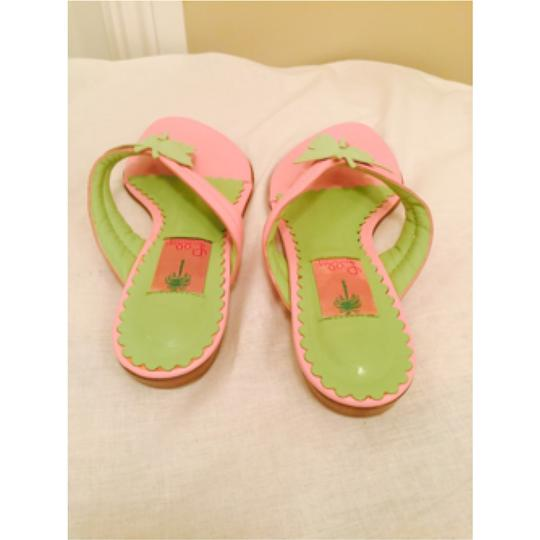 Lilly Pulitzer pink and green Sandals