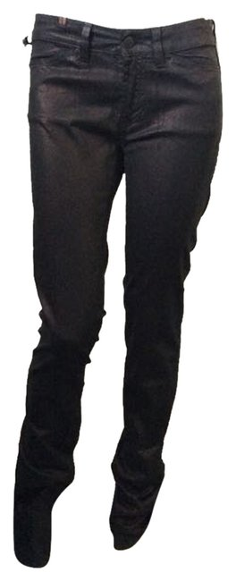 Other Skinny Pants Black Coating with Bronze Shimmer