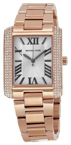 Michael Kors Michael Kors Rose Gold Crystal Bezel Classic Ladies Designer Watch