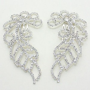 Fashionist Stunning Crystal Wedding Bridal Hair Combs Accessory Jewelry