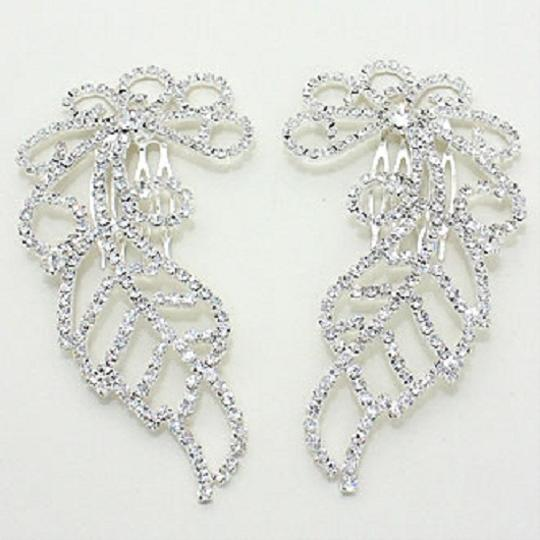 Silver Fashionist Stunning Crystal Combs Hair Accessory