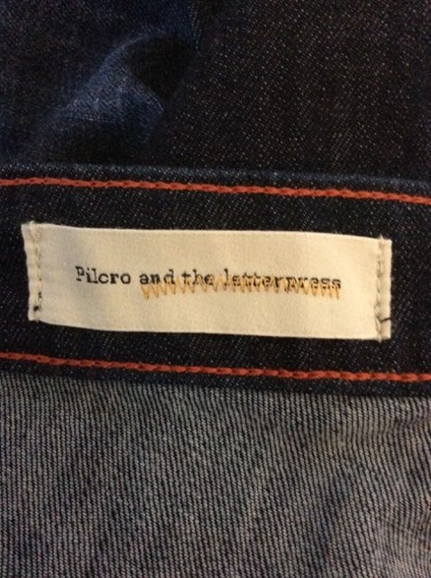 Piocro and Letterpress Trouser/Wide Leg Jeans-Dark Rinse Image 2