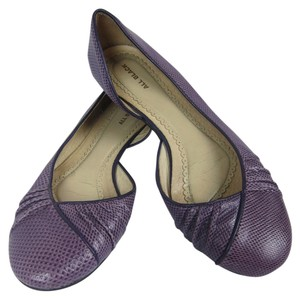 ALL BLACK Leather Unique Anthropologie purple Flats
