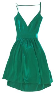 ONE by Contrarian Shopbop New York V Neck Open Back Silk Mini Dress
