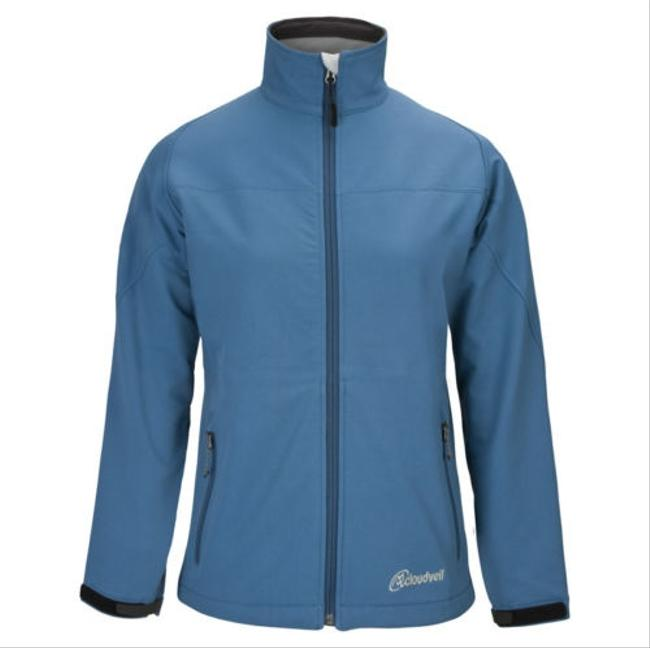 Cloudveil Womens Phelps Cyclone Soft Shell Serendipity Coat Light Blue Jacket