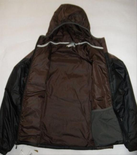 Cloudveil Womens Brown Primaloft Encosure Hooded Winter Coat Black Jacket