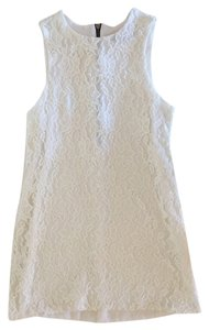 Naven short dress White Floral Textured on Tradesy