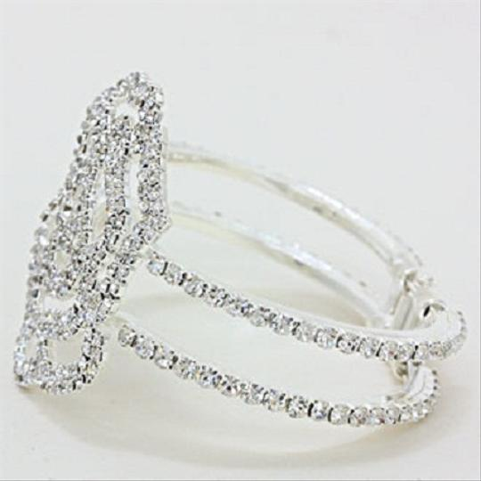 Clear Crystal and Silver Fashionist Stunning Bracelet