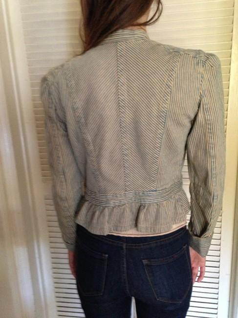 Marc Jacobs peach and blue Womens Jean Jacket
