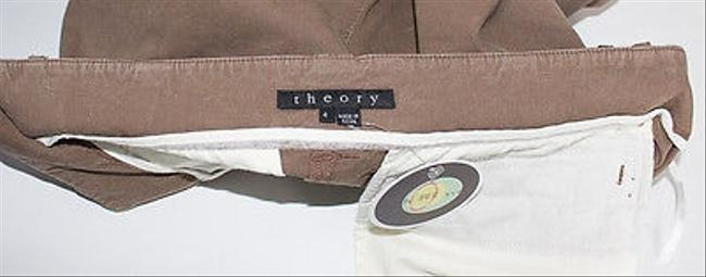 Theory Capri/Cropped Pants Brown