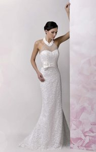 Anjolique Ivory Lace/Tulle 577 Modern Wedding Dress Size 6 (S)