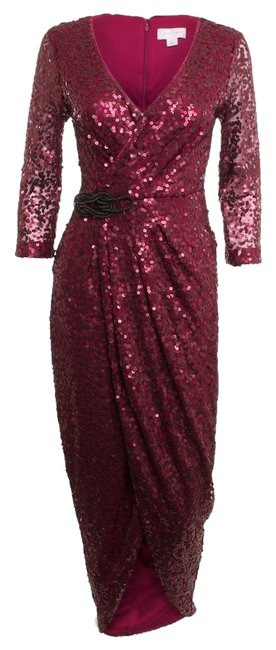Preload https://item5.tradesy.com/images/jessica-simpson-ruby-red-sequin-wrap-gown-mid-length-night-out-dress-size-2-xs-4873939-0-0.jpg?width=400&height=650