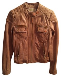 Michael Kors Peanut Leather Jacket