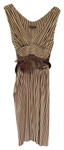 Betsey Johnson short dress Brown and cream stripes on Tradesy