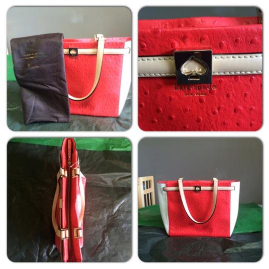 Kate Spade Tote in Red & White