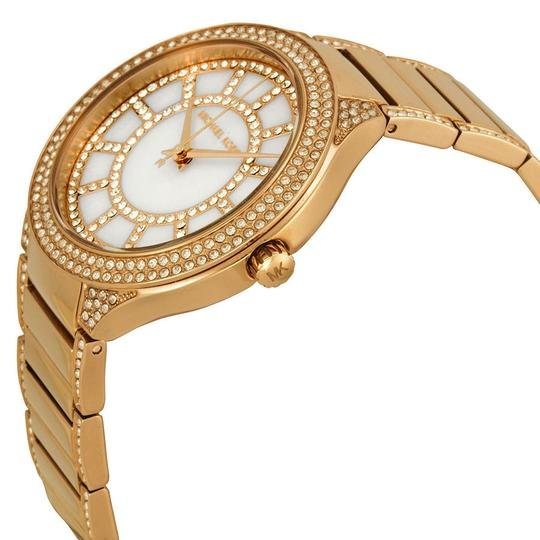Michael Kors Michael Kors Rose Gold Mother of Pearl with Crystal Pave Dial Ladies Designer Watch