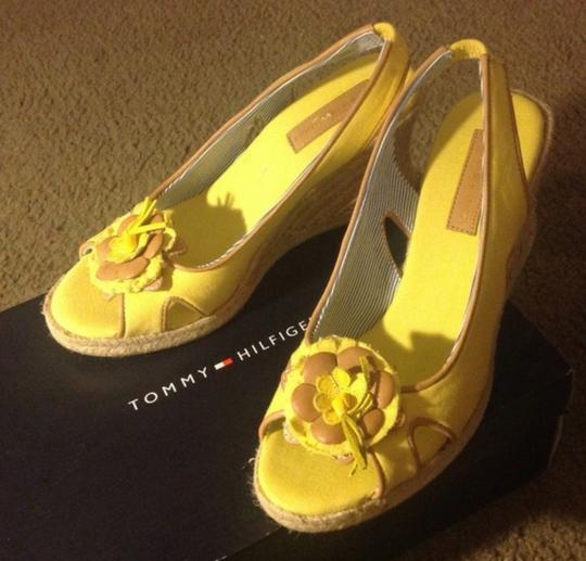 Tommy Hilfiger Yellow Wedges