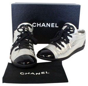 Chanel Caviar Graffiti Supermarket Studs Coco Espadrille Canvas Leather Double Lambsking Tennis Sneakers Rue Jumbo Quilted Silver Athletic