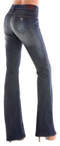 Guess New Dark Blue Denim Slim Fit Flare Leg Jeans-Dark Rinse