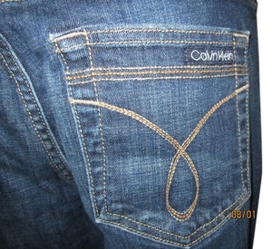 Calvin Klein Retro Never Worn Vintage Boot Cut Jeans-Dark Rinse